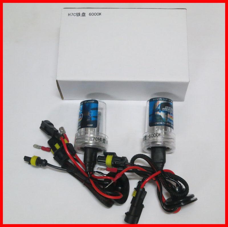 20 pares 35w h7 h7c base baseado ferro baseado hid xenon lâmpadas de substituição de ar livre lâmpada de faróis 40mm mais curto tudo cor 4,3k 6k 8k 10k 12k 12v