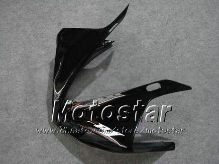 7 Cadeaux carénages moto pour YAMAHA 2009-2011 YZF-R1 09 10 11 YZFR1 09 10 11 YZF R1 YZFR1000 carénage noir brillant