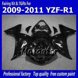 r1 11 Canada - 7 Gifts motorcycle fairings for YAMAHA 2009-2011 YZF-R1 09 10 11 YZFR1 09 10 11 YZF R1 YZFR1000 glossy black bodywork fairing