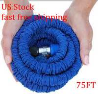 Wholesale Garden Pipe Usa - US Stock -75ft expandable hose flexible hose USA Standard Garden hose water pipe fast free shiping