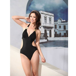 Wholesale Hot Sexy Monokini - Womans Lady Girls Sexy Black One Piece Monokini Swimming Wear Swimsuit Swimwear Bathing suit Beach Bikini Set High Quality Hot Sale