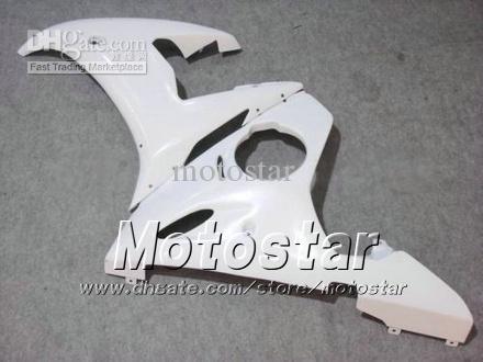 7 Geschenken Back Body Kit voor Yamaha 2003 2004 YZF-R6 03 04 YZFR6 YZF R6 YZF600 Glanzende White Fairing Set GG73
