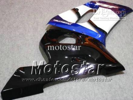 Kit de carénage de moto pour YAMAHA YZF-R6 1998 1999 2000 2001 2002 YZFR6 YZF R6 YZF600 bleu noir carénages set hh
