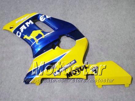 GRATIS Custom Fairing Kit voor Yamaha YZF-R6 1998 1999 2000 2001 2002 YZFR6 YZF R6 YZF600 Geel Motul Fackings Set HH1