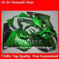 Wholesale kawasaki zx12r body fairings - Free 7 gifts ABS Plastic fairing kit for ninja ZX12R 2000 2001 ZX 12R 00 01 ZX-12R fairings G1f black flames in green motorcycle body work