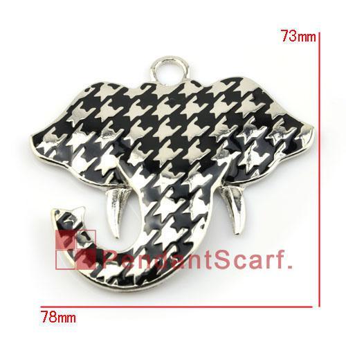 / Top Mode DIY Bijoux Écharpe Accessoires Mental En Alliage de Zinc Charm Mignon Éléphant Pendentif, Livraison Gratuite, AC0117