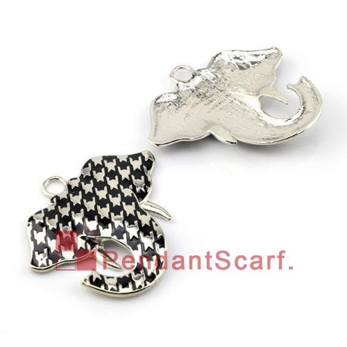 Top Fashion DIY Jewellery Scarf Accessories Mental Zinc Alloy Charm Cute Elephant Pendant, AC0117