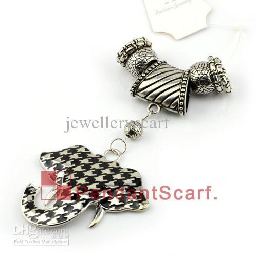 Top Popular DIY Jewellery Scarf Accessories Zinc Alloy Cute Elephant Pendant Set CCB Slide Bails Charm, AC0122