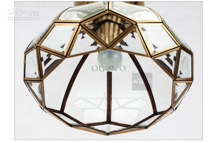 Europese vintage koper garderobe plafondlicht gang slaapkamer kroonluchters Indiase traditionele plafondlamp hal gallery plafondlamp