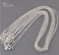 "1MM 16' 18' 20"" SILVER CHAINS ROLO NECKLACE W..."