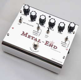 Wholesale Guitar King - Biyang Electric Guitar Effect Pedal Metal End King Distortion True Bypass + 2 Free Patch Cables Combo MU0177
