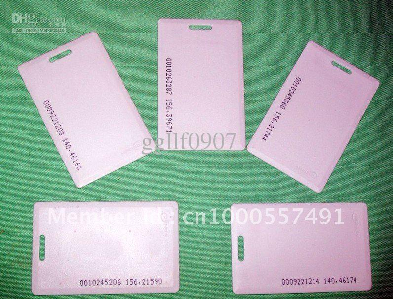 Free shipping,RF proximity EM card with 125kHz,1.8mm thick card, +min:100pcs