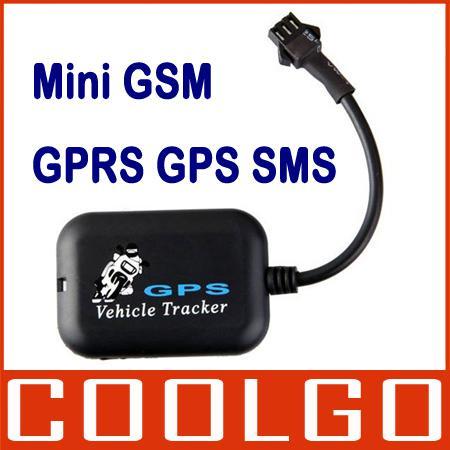 Mini gps gprs gsm tracker sms real time network bike vehicle
