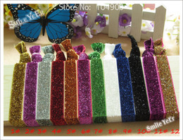 Wholesale Handmade Hair Holder - 120pcs Multicolor Ribbon Baby Headbands Elastic Hairband Handmade Hair Tie Fashion Hand Chain Bracelet Hair Holder