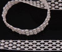 Wholesale round pearl garland - V21 2 Meters White Half Round Pearl Garland Wedding Cake Banding Trim Ribbon Deco