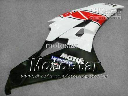 7 Geschenken Backings Kit voor Yamaha 2006 2007 YZF-R6 06 07 YZFR6 06 07 YZF R6 YZFR600 Rood Wit Aangepaste Verklei Set HH43