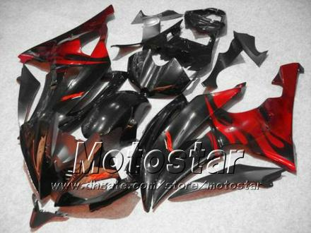 Kuipenset voor Yamaha 2008 2009 2010 YZF-R6 08 09 10 YZFR6 08 09 10 YZF R6 YZFR600 rood in zwarte motorfietsverblazen HH51