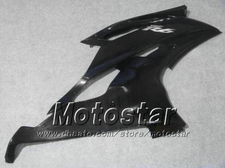 Yamaha 2008 2009 2010 YZF-R6 08 09 10 YZFR6 08 09 10 YZF R6 YZFR600 광택 검은 오토바이 페어링 HH59