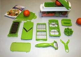 Wholesale Dicer Food Slicer Cutter - Lowest Price 12Sets lot Nicer Dicer Plus Vegetables Fruits Dicer Food Slicer Cutter Containers Chopper Peelers