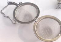 metal örgü küreler toptan satış-En iyi Fiyat 100 adet / grup 5.5 cm Paslanmaz Çelik Çay Pot Demlik Küre Mesh Süzgeç Topu 5.5 cm