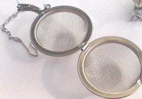 esferas de malla metálica al por mayor-Mejor Precio 100 unids / lote 5.5 cm Acero Inoxidable Tetera Infusor Esfera Malla Colador Bola 5.5 cm