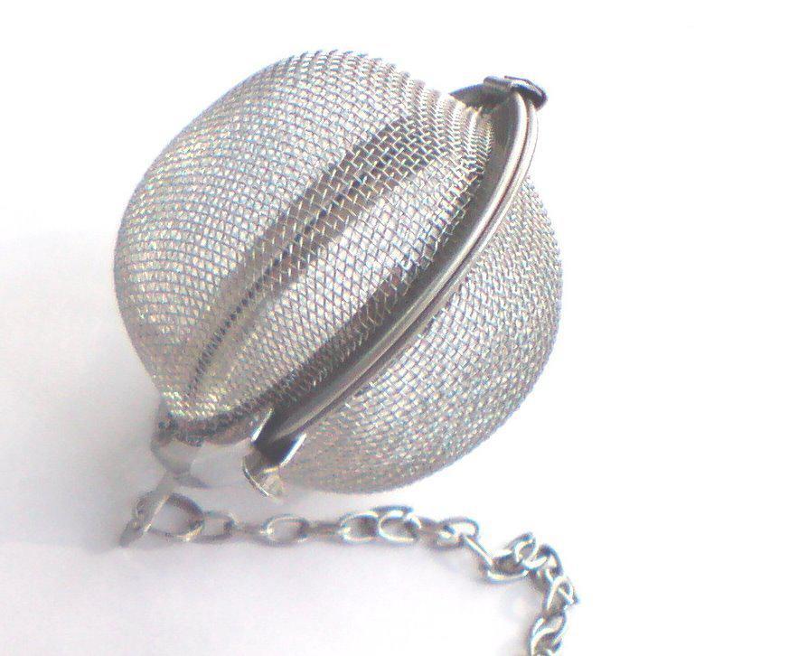 Meilleur Prix / 5.5cm En Acier Inoxydable Théière Infuser Sphère Maille Boule De Tamis 5.5cm