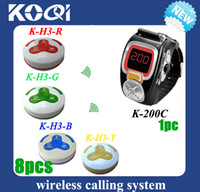 Wholesale wireless waiter call button system waitress pagers and the manual multifunctional waterproof buzzers DHL free