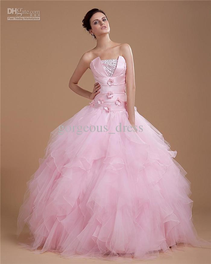 Compre Hermoso Vestido De Bola Vestido De Rosa Vestidos De Fiesta ...