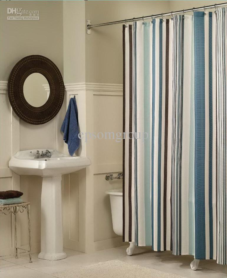 New Foreign Shower Curtain Waterproof Curtain 100% Polyester Curtain  Bathroom Curtain
