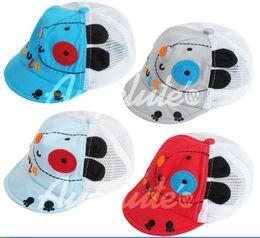 Wholesale Baby Mesh Hat - 2013 Summer children Mesh hat Korean modelling baby sunshade hat boys and girls hat 4 colour 8 pcs lot XR572