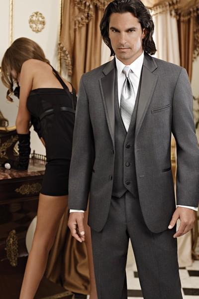 Grey Suit Jacket Black Pants