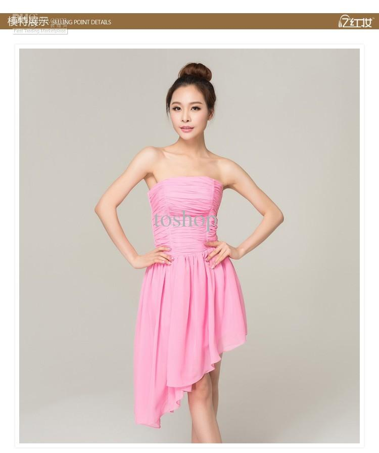 40% Off!!! Junior Bridesmaid Dresses Strapless Bridesmaids Formal ...
