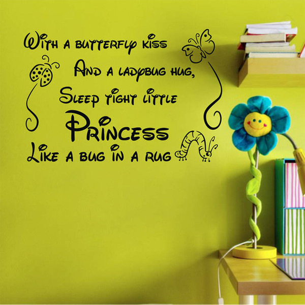 Baby Room Wall Quotes Vinyl Wall Stickers 45x60cm Nursery Wall ...