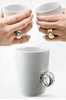 Wholesale Diamond Ring Cup - HOT Elegant Austria Crystal Diamond 2 Carat Ring Ceramic Cup Valentine's Cup, Cute Mug,Novelty items,