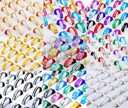 Wholesale Bulk Bands - 1000pcs 10style Rings Jewelry Mix Fashion Aluminum Rings Bulks Multicolor Band Rings Fashion Finger Rings Jewelry [RA01-RA11(1000)]
