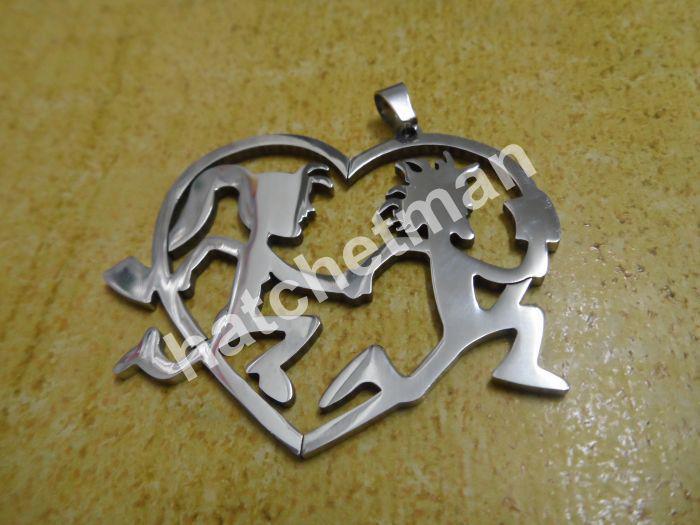 2.7In Hatchetman roestvrij staal hangers, paar sieraden, geen vervorming, geen vervagen