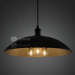 Wholesale Iron Free Shiping - Denmark Diameter 43cm Painted Iron Dining Room Pendant Lamp Free Shiping Industrial Style Modern Balcony Pendant Light Bedroom Pendant Lamp