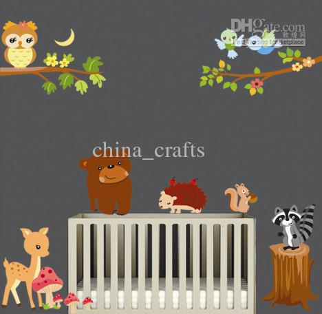 Removable Wall Art Stickers The Forest Animals Wall Decal Kids - Nursery wall decals animals
