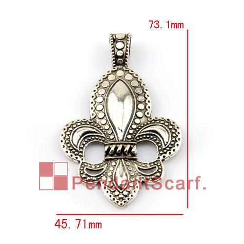 12 pz / lotto, modo caldo gioielli fai da te collana sciarpa pendente in lega di zinco simbolo reale accessori fascino, trasporto libero, ac0114