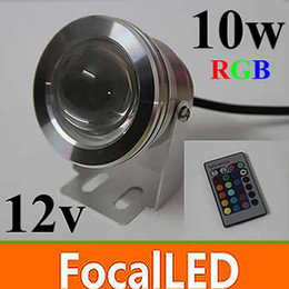 underwater floodlights UK - 6pcs lot 10W RGB Underwater Light LED Floodlight 12V Round Aquarium Fountain Lighting with Reflection Cup