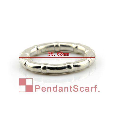 20 pz / lotto, gioielli fai da te di alta qualità risultati sciarpa brillare argento bambù rotondo di plastica accessori anelli ccc, trasporto libero, AC0110