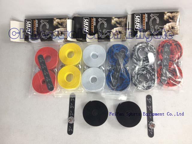 2PCS Bicycle Cycling Rode Bike Handlebar Grip Tapes Wraps Bandage with Bar Plug