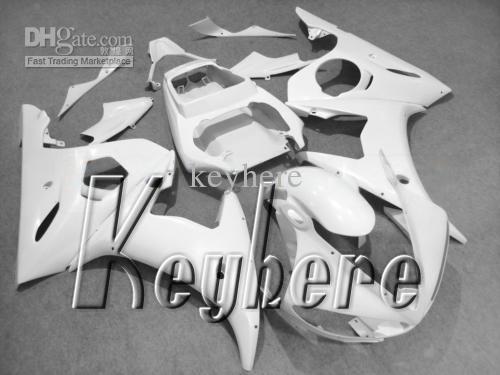 7 regali carenatura in plastica ABS YZF-R6 2003 2004 YZFR6 03 04 YZF R6 carene G1e tutto in puro bianco aftermarket moto carrozzeria