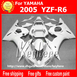 motorcycle r6 body kit 2020 - Free 7 gifts ABS plastic fairing kit for YAMAHA YZFR6 2005 YZF R6 05 YZF-R6 fairings G5k hot asle all white aftermarket