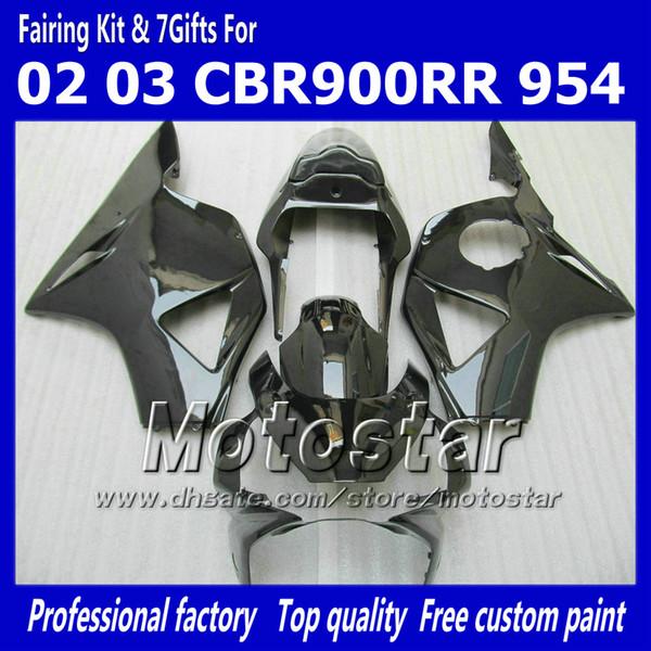 Aftermarket fairing kits for HONDA CBR900RR 954 2002 2003 CBR900 954RR CBR954 02 03 CBR900RR glossy black custom fairings set jj21