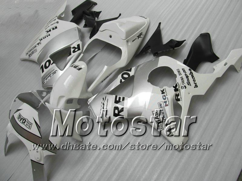 7Gifts aftermarket carenagem para HONDA CBR900RR 954 2002 2003 CBR900 954RR CBR954 02 03 CBR900RR branco prata carenagens personalizadas conjunto jj26