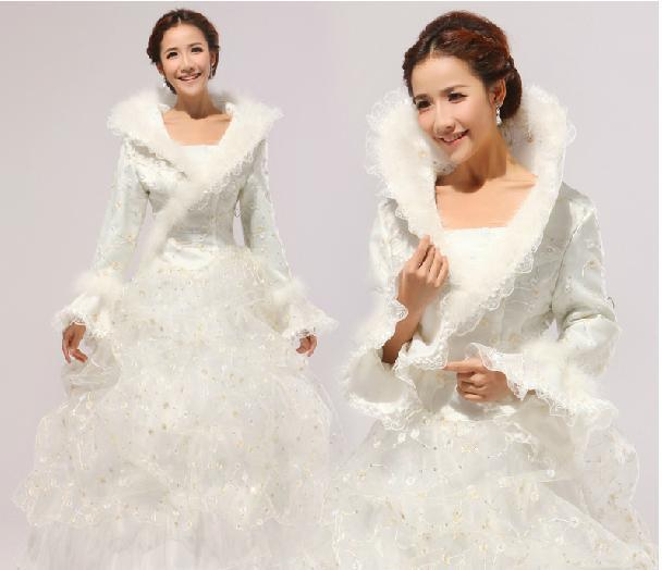 Winter Bride Wedding Dress Cotton Long Sleeve Plus Size Red Formal Dresses Greek From Sunfahong