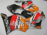 Wholesale Honda 954 Fairing Black - 7 Gifts aftermarket fairing for HONDA CBR900RR 954 2002 2003 CBR900 954RR CBR954 02 03 CBR900RR orange black custom fairings set jj34
