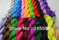 Wholesale String Beading Macrame - 1.5mm Nylon Shamballa Cord Macrame Cord Rattail Braided Knot Beading String For Jewelry 82M 90yds