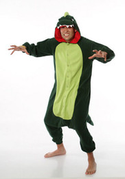 Wholesale funny christmas pajamas online – ideas dinosaur Various adult animal romper pajamas cosplay pyjamas onesie costume S M L XL